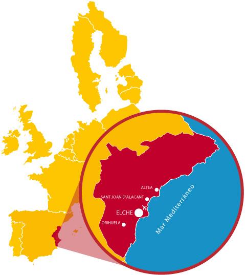 Mapa de ubicación de la UMH